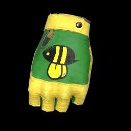 Bee Mellow Fingerless Gloves
