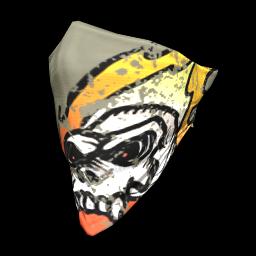 Flaming Skull Face Bandana