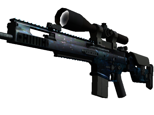 SCAR-20   蓝洞 (略有磨损)SCAR-20   Grotto (Minimal Wear)