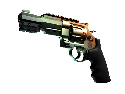R8 左轮手枪   渐变琥珀 (略有磨损)R8 Revolver   Amber Fade (Minimal Wear)