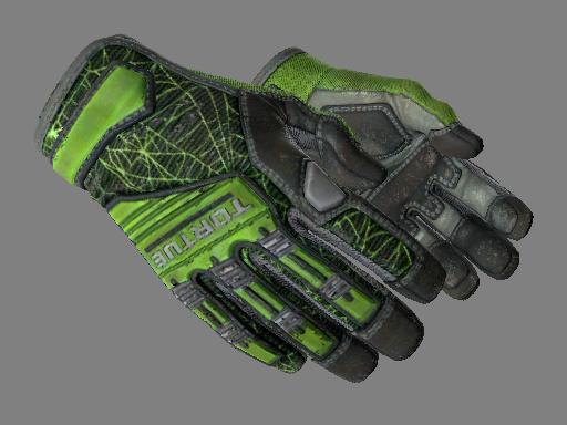 专业手套(★)   翠绿之网 (久经沙场)★ Specialist Gloves   Emerald Web (Field-Tested)