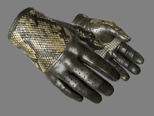 驾驶手套(★)   菱背蛇纹 (久经沙场)★ Driver Gloves   Diamondback (Field-Tested)