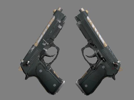 双持贝瑞塔 | 雇佣兵 (久经沙场)Dual Berettas | Contractor (Field-Tested)