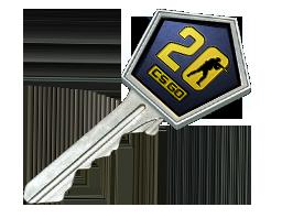 反恐精英20周年武器箱钥匙CS20 Case Key