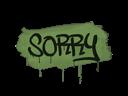 封装的涂鸦 | 对不起 (军绿)Sealed Graffiti | Sorry (Battle Green)