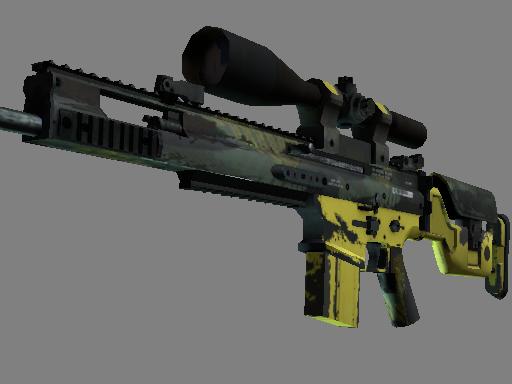 SCAR-20 | 丛林滑流 (破损不堪)SCAR-20 | Jungle Slipstream (Well-Worn)