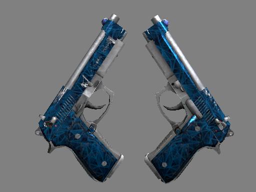双持贝瑞塔 | 钴蓝石英 (久经沙场)Dual Berettas | Cobalt Quartz (Field-Tested)