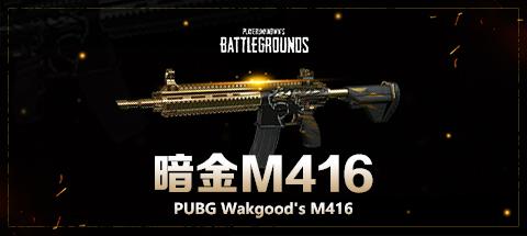 PUBG暗金M416 成品账号