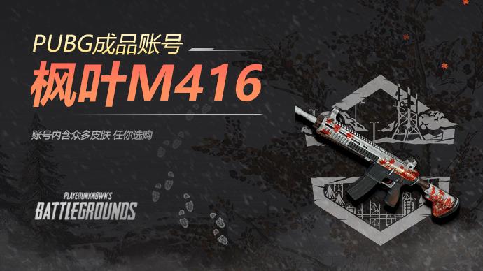 PUBG枫叶M416成品账号游戏截图1