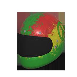 Rasta Motorcycle Helmet
