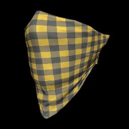 Yellow Plaid Face Bandana