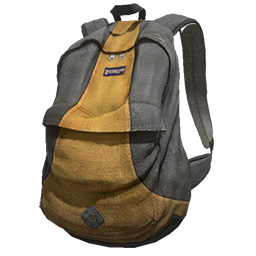 Gray and Yellow Backpack