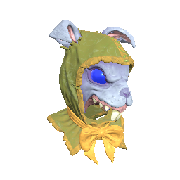 Blue Rabbit Mask