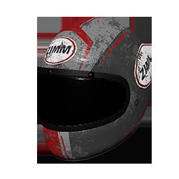 Zimms Red Racing Helmet