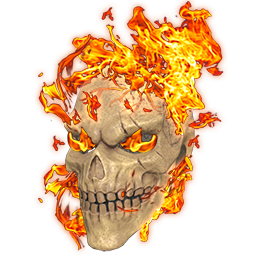 Fire Hazard Skull Mask