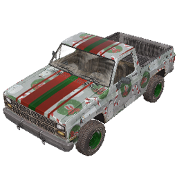 Gift-Wrapped Pickup Truck
