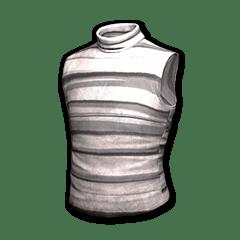 Sleeveless Turtleneck (Gray Striped)