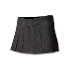 Pleated Mini-skirt (Black)