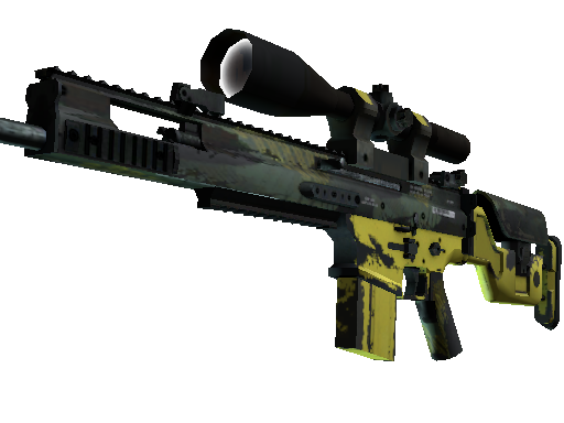 SCAR-20(StatTrak™) | 丛林滑流 (久经沙场)StatTrak™ SCAR-20 | Jungle Slipstream (Field-Tested)