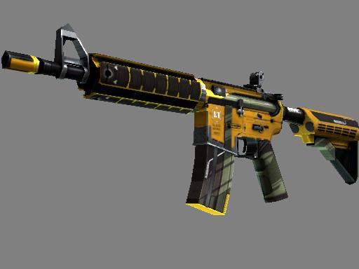 M4A4   喧嚣杀戮 (略有磨损)M4A4   Buzz Kill (Minimal Wear)