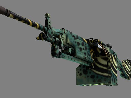 M249(StatTrak™) | 翠绿箭毒蛙 (略有磨损)StatTrak™ M249 | Emerald Poison Dart (Minimal Wear)