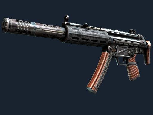 MP5-SD(StatTrak™) | 高斯 (破损不堪)StatTrak™ MP5-SD | Gauss (Well-Worn)