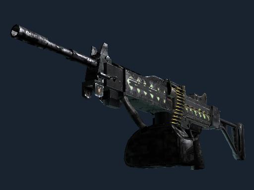 内格夫(StatTrak™) | 飞羽 (战痕累累)StatTrak™ Negev | Ultralight (Battle-Scarred)