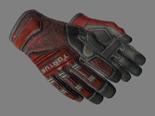 专业手套(★)   深红之网 (略有磨损)★ Specialist Gloves   Crimson Web (Minimal Wear)