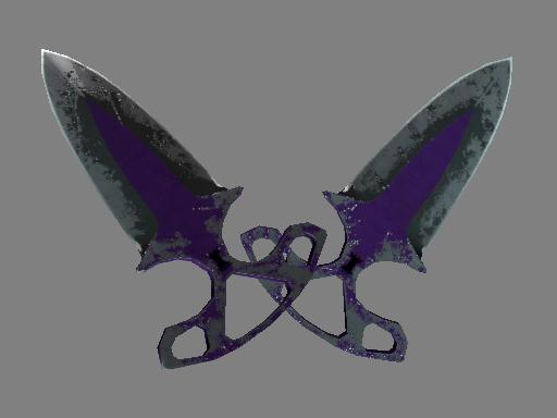 暗影双匕(★) | 致命紫罗兰 (战痕累累)★ Shadow Daggers | Ultraviolet (Battle-Scarred)