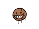涂鴉 | 露齒笑 (黃褐)Graffiti | Mr. Teeth (Tiger Orange)