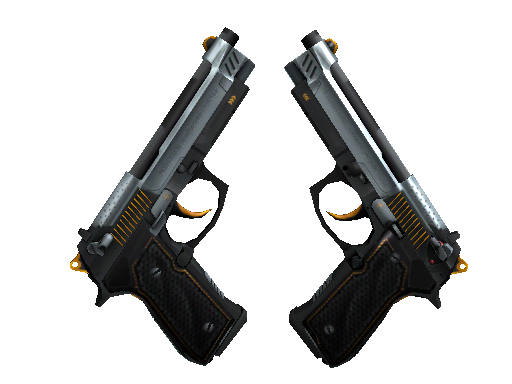 双持贝瑞塔(StatTrak™)   通风机 (崭新出厂)StatTrak™ Dual Berettas   Ventilators (Factory New)