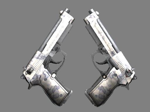 双持贝瑞塔 | 人工染色 (破损不堪)Dual Berettas | Stained (Well-Worn)