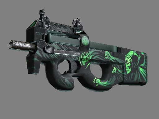 P90 | 冷血无情 (略有磨损)P90 | Grim (Minimal Wear)