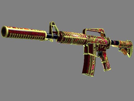 M4A1 消音型   女火神之炽焰 (破损不堪)M4A1-S   Chantico's Fire (Well-Worn)