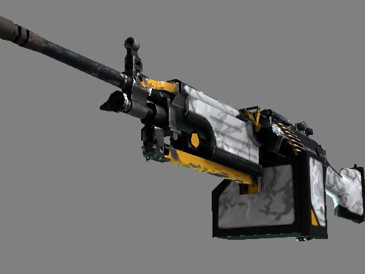 M249(StatTrak™)   鬼影 (破损不堪)StatTrak™ M249   Spectre (Well-Worn)