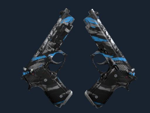 双持贝瑞塔 | 碎片 (久经沙场)Dual Berettas | Shred (Field-Tested)