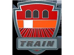 列车停放站胸章Train Pin