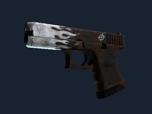 格洛克 18 型(StatTrak™) | 锈蚀烈焰 (久经沙场)StatTrak™ Glock-18 | Oxide Blaze (Field-Tested)