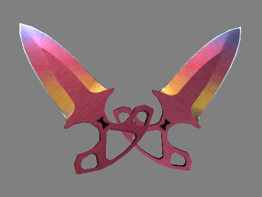 暗影双匕(★) | 渐变之色 (崭新出厂)★ Shadow Daggers | Fade (Factory New)
