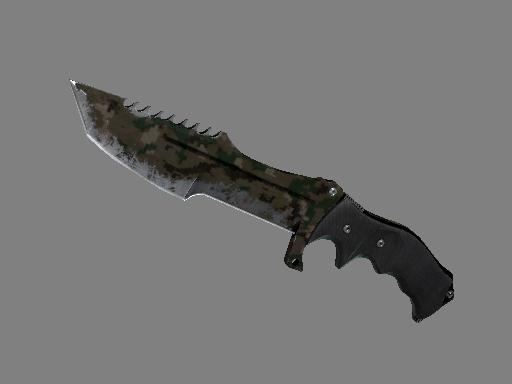 猎杀者匕首(★) | 森林 DDPAT (战痕累累)★ Huntsman Knife | Forest DDPAT (Battle-Scarred)