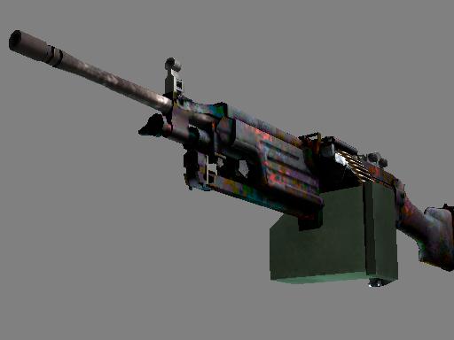 M249(StatTrak™) | 岩浆 (略有磨损)StatTrak™ M249 | Magma (Minimal Wear)