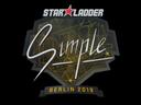 印花 | s1mple | 2019年柏林锦标赛Sticker | s1mple | Berlin 2019