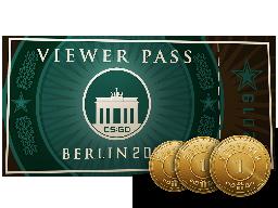 柏林2019观众通行证+3枚纪念品代币Berlin 2019 Viewer Pass + 3 Souvenir Tokens