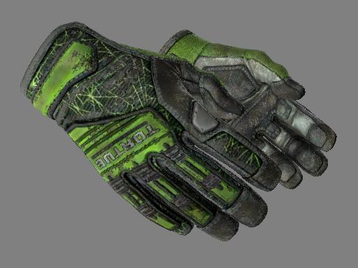 专业手套(★) | 翠绿之网 (战痕累累)★ Specialist Gloves | Emerald Web (Battle-Scarred)