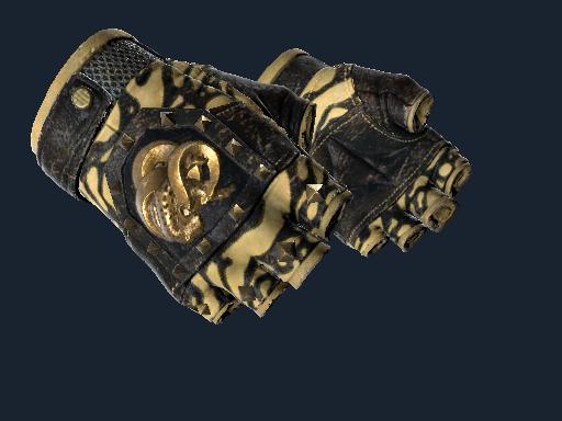 狂牙手套(★) | 黄色斑纹 (久经沙场)★ Broken Fang Gloves | Yellow-banded (Field-Tested)