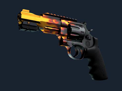 R8 左轮手枪   炽烈之炎 (略有磨损)R8 Revolver   Blaze (Minimal Wear)