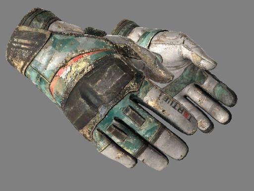 摩托手套(★)   薄荷 (战痕累累)★ Moto Gloves   Spearmint (Battle-Scarred)