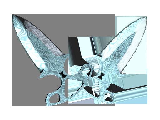 暗影双匕(★) | 大马士革钢 (崭新出厂)★ Shadow Daggers | Damascus Steel (Factory New)