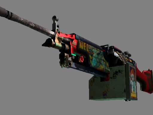 M249(StatTrak™) | 星云十字军 (战痕累累)StatTrak™ M249 | Nebula Crusader (Battle-Scarred)