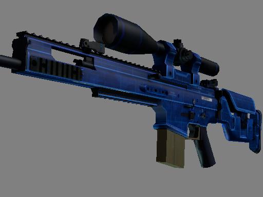 SCAR-20 | 蓝图 (略有磨损)SCAR-20 | Blueprint (Minimal Wear)